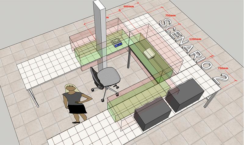 conception plan agencement vue de haut 2D