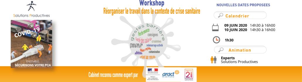 workshop reorganiser le travail en periode de crise sanitaire JUIN 2020