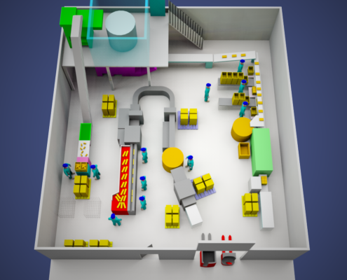 Vue-perspective-3D-installation-chaine-convoyeur